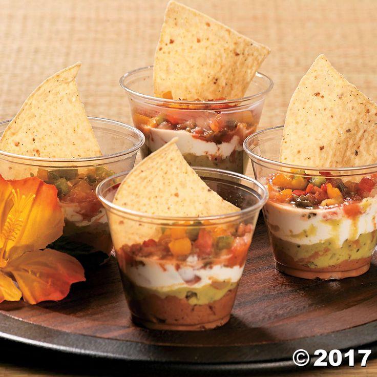 Luau Snack Cups Idea
