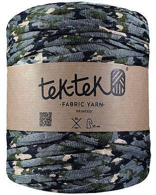 Tek-Tek Super Chunky Fabric T-Shirt Yarn - Extreme Knitting Crochet - Camouflage in Crafts, Crocheting & Knitting, Wool & Yarn   eBay