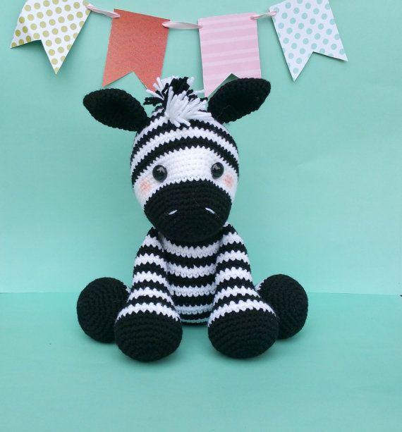 zebra zebra crochet pattern zebra doll crochet por SweetOddityArt