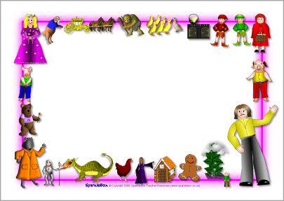 Fairytale-themed A4 page borders (SB3883) - SparkleBox