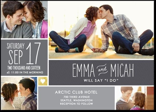 Multi picture wedding invitation shutterfly