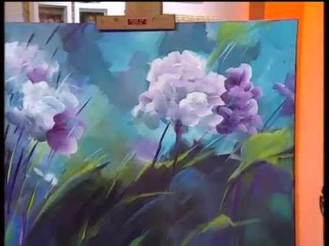 ▶ MONITOR | Gabriela Mensaque pintando flores con Acrílicos Profesionales Lautrec | Manos a la Obra - YouTube