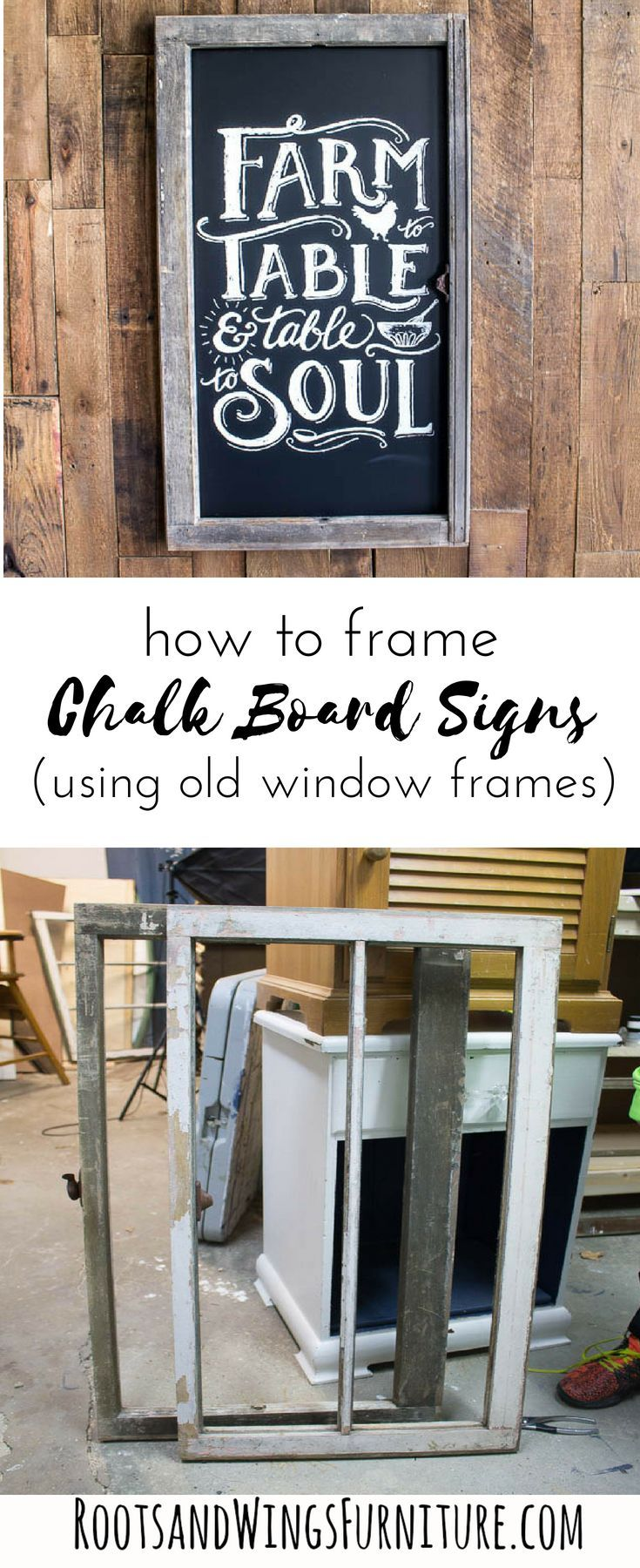 how to make a chalkboard sign using an old window project gallery rh pinterest com