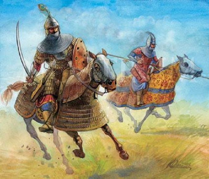 Cavaliers Sipahis Ottomans lors d'une charge