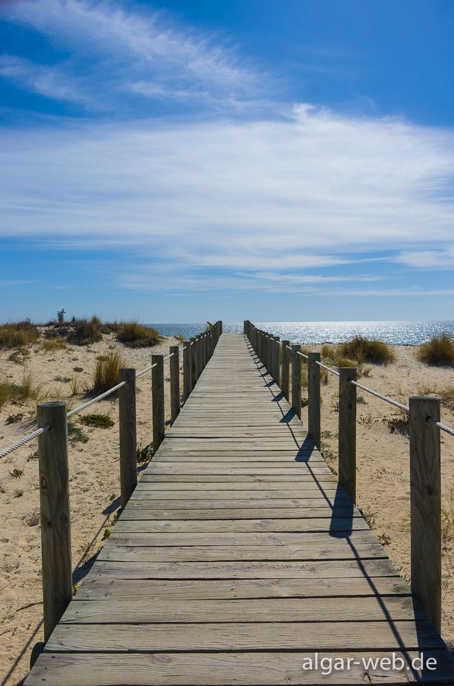Algarve, Portugal: Way to the beach (Praia do Barril, Santa Luzia, Tavira)