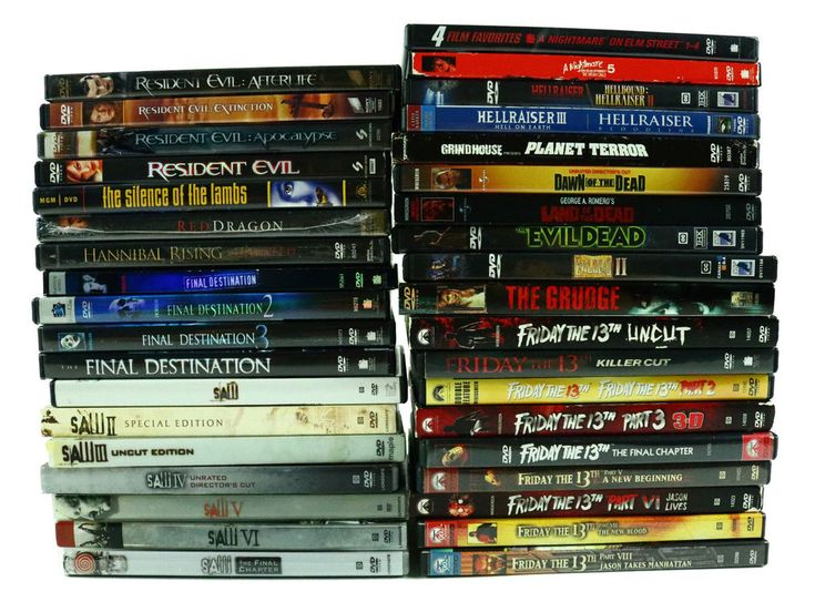 Horror DVD Lot 38 Movies Friday the 13th Nightmare on Elm Street Saw Hannibal