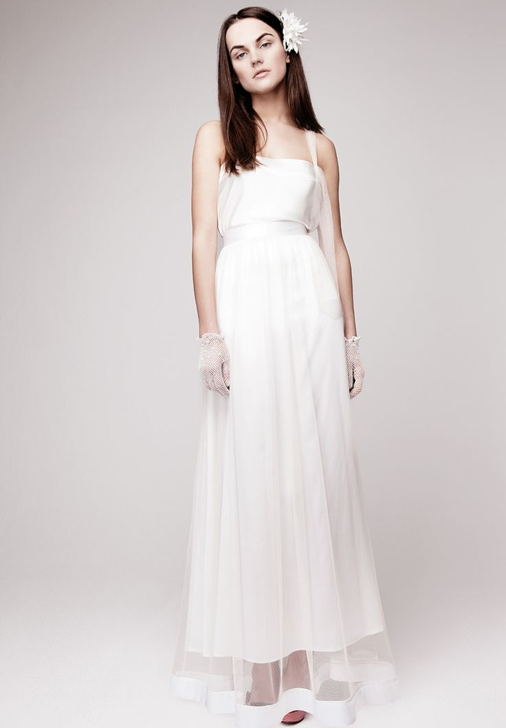 Fairytale Vintage Wedding Dress with Silk Hemline