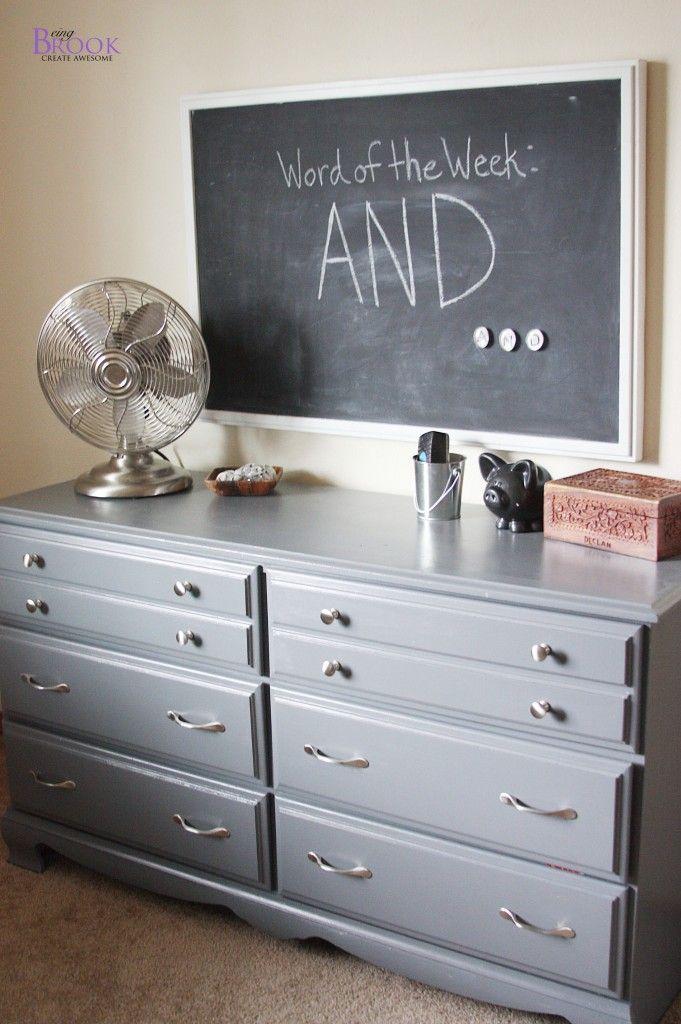 Best Beingbrook Painting A Dresser Grey Dinosaur Boy Bedroom 640 x 480
