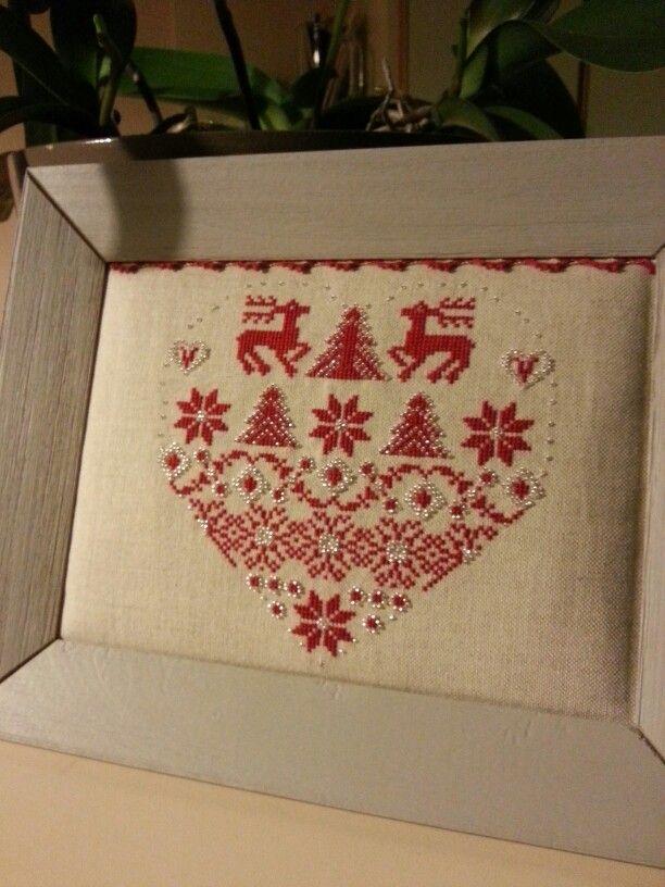 Superbe creation Le Petit Point Compté Coeur Tradition en vente dans ma boutique en ligne.