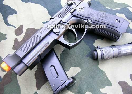 HFC Fully Automatic Select Fire M9 Vertex Gas Blowback Airsoft Pistol | Evike.com