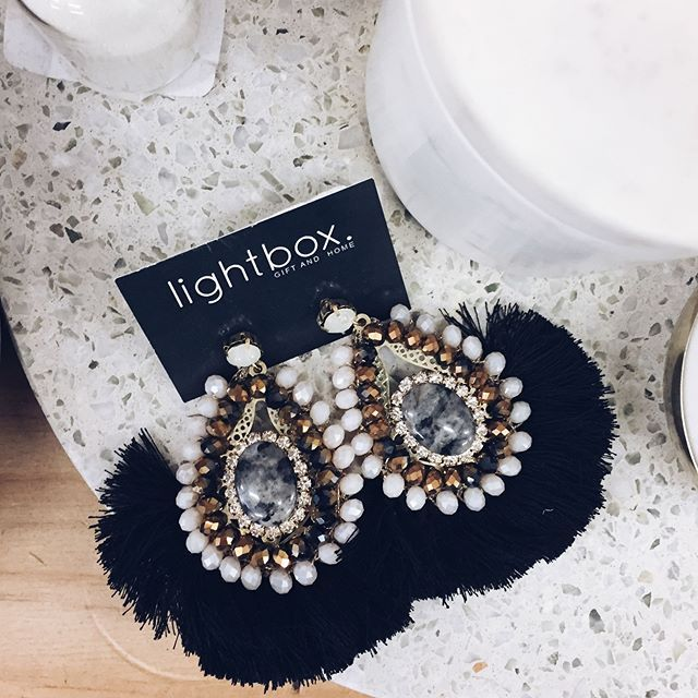 Love a statement earring 〰️ shop our range in store and online // lightbxgift.com.au