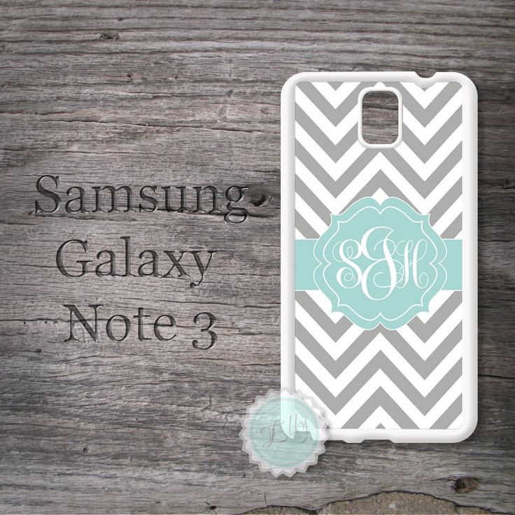 Samsung Galaxy Note 3 case  Aquamarine ribbon on by MonogramCase