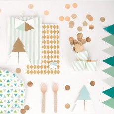 My Little Day Albero di Natale bicolore -Turchese-listing