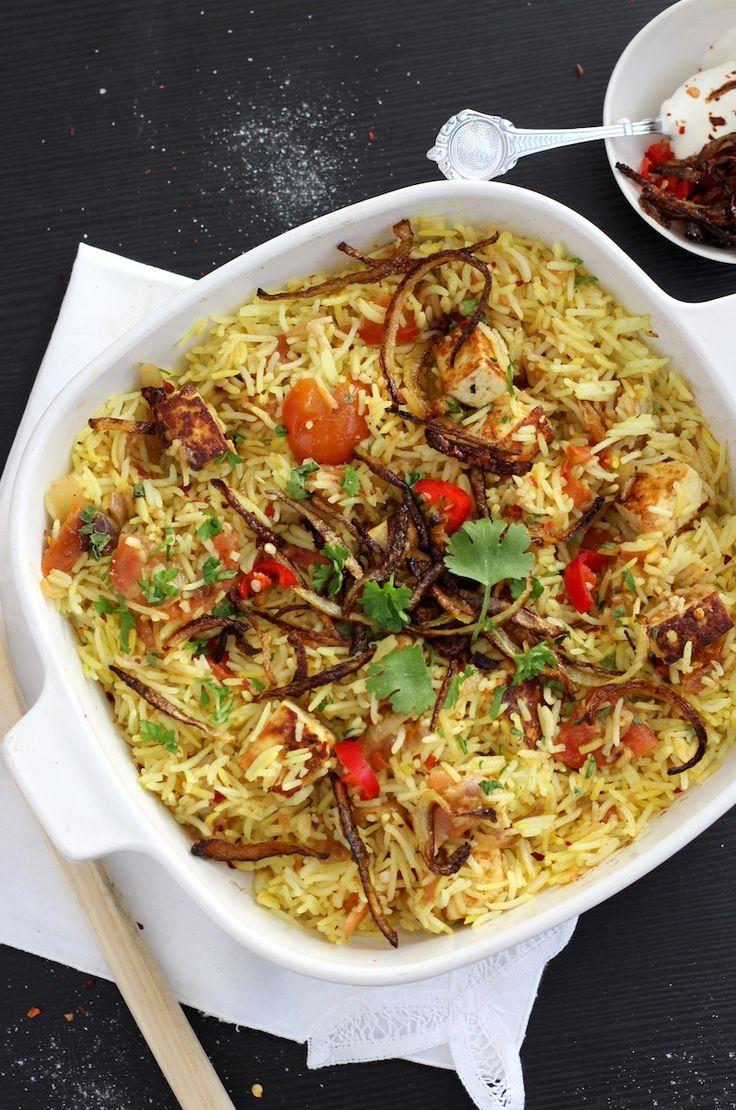 Vegetarian Paneer Biryani - fragrant rice dish