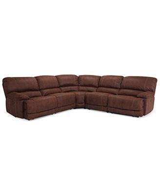 $2K Jedd Fabric Reclining Sectional Sofa, 5 Piece Power ...