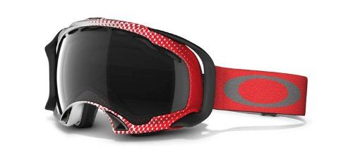 Oakley Splice Ski Snowboard Goggles Half Tone Red-White/Dark Grey Lens *** Click image to review more details.