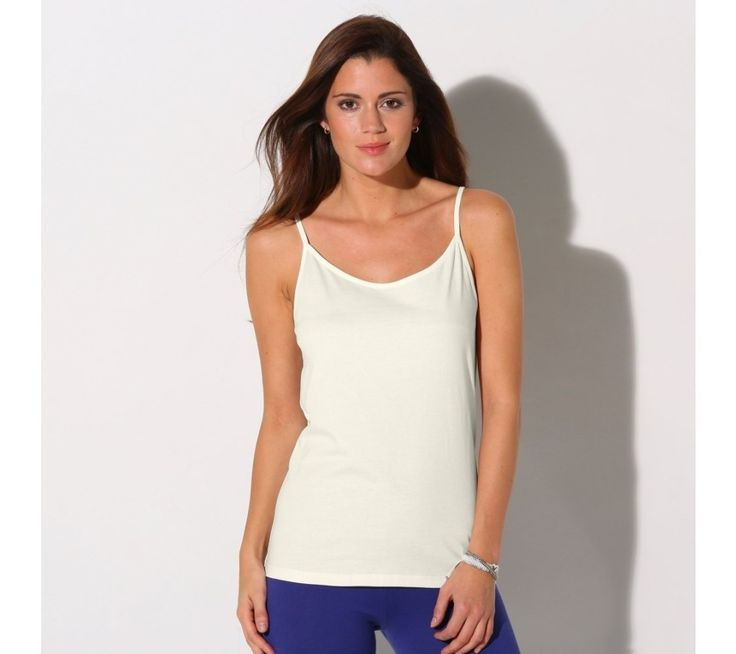 Jednofarebný top s úzkymi ramienkami | blancheporte.sk #blancheporte #blancheporteSK #blancheporte_sk #spring #summer #wear