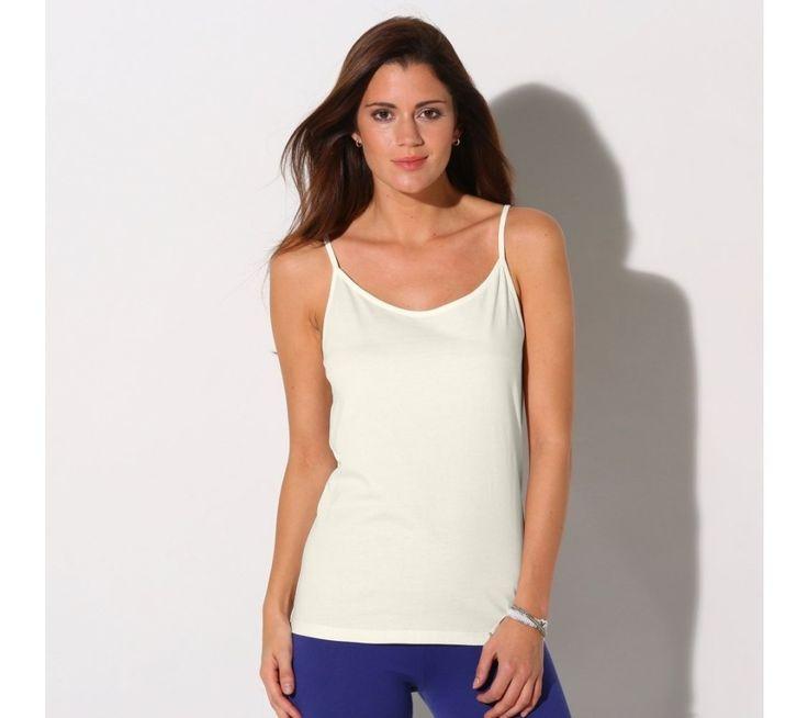 Jednobarevný top s úzkými ramínky | blancheporte.cz #blancheporte #blancheporteCZ #blancheporte_cz #summer #spring #wear