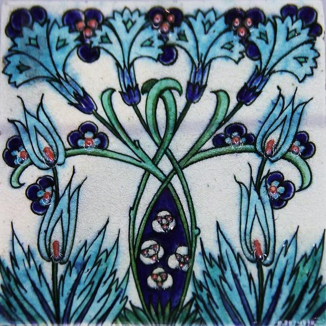 Tile - William De Morgan by Kotomicreations, via Flickr