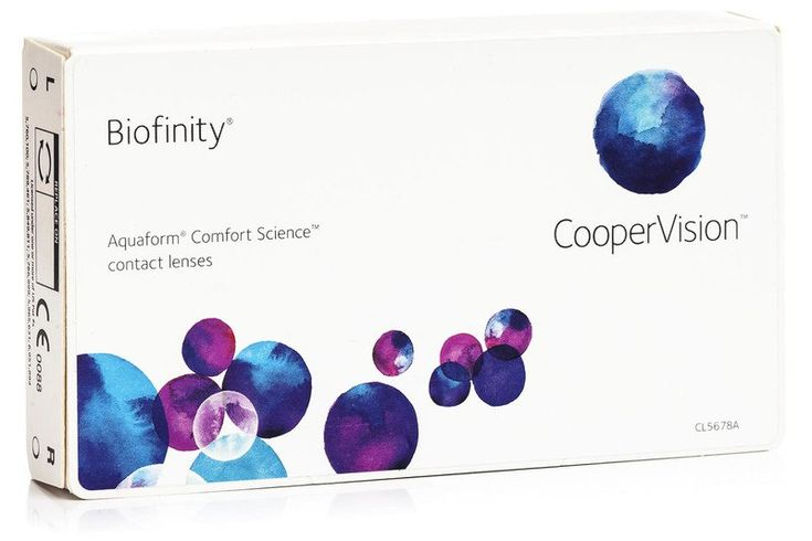Biofinity CooperVision (3 lentile)