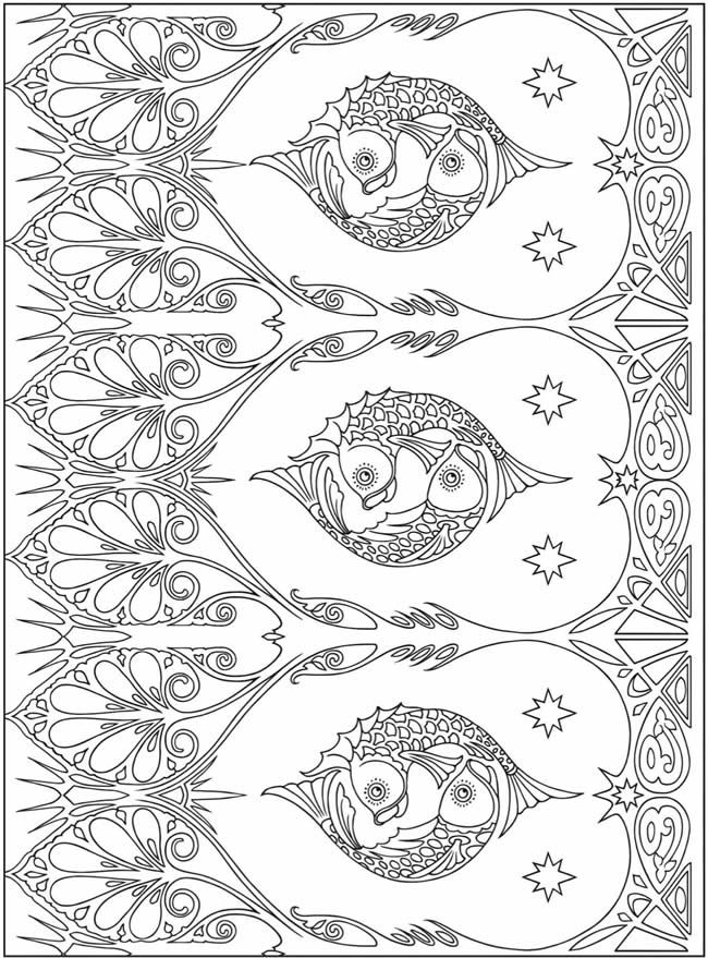 Stunning Design Coloring Book 89 Art Nouveau Patterns Coloring