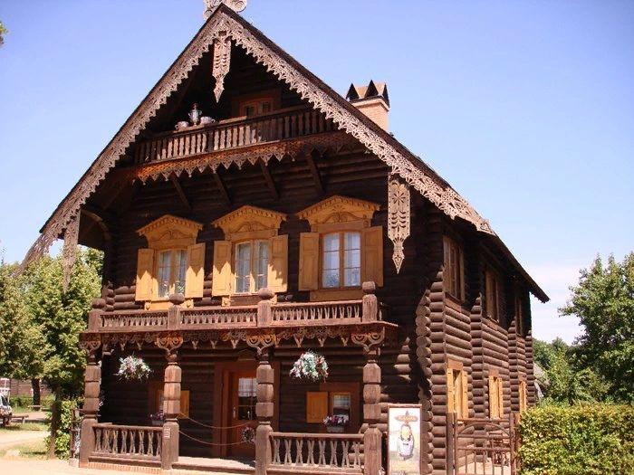 Картинки деревянных построек