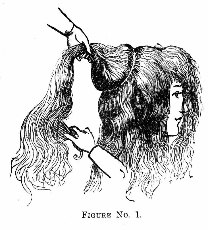 How-to diagrams for styling Victorian hair... 1 of 3