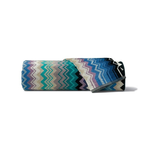 Giacomo Bath Towel in Blue, Earth, and Pink Tones by Missoni Home