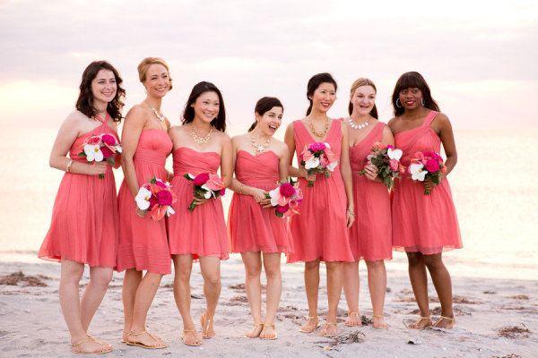 Beach wedding bridesmaids in J.Crew