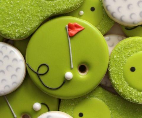 Easy Golf Cookies via Sweetsugarbelle.com