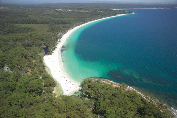 Beautiful Green Patch Beach at Jervis Bay on the South Coast of NSW