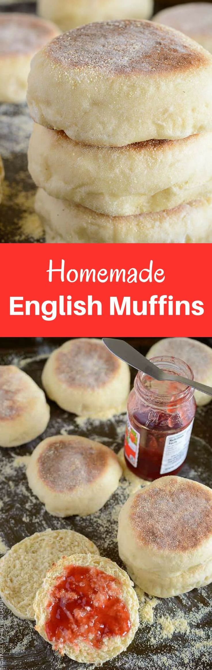 Homemade English muffins are so much easier than you think! This recipe is simple and will give you soft, chewy muffins in no time. via @introvertbaker