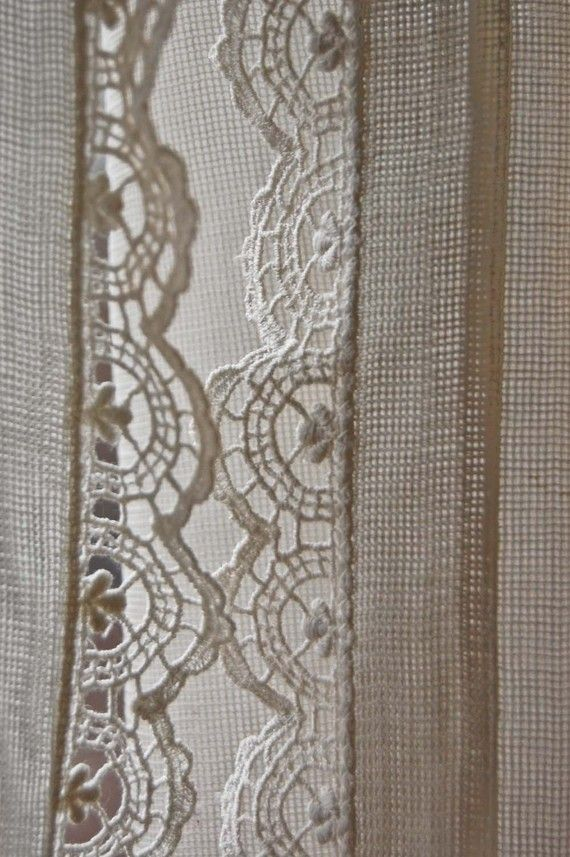 Lace Trim Curtains Sheer With Lace Edging Crochet Edging