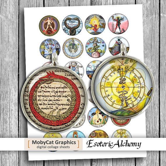 Esoteric Alchemy 20mm 1 inch 30mm 1.5 inch for by MobyCatGraphics