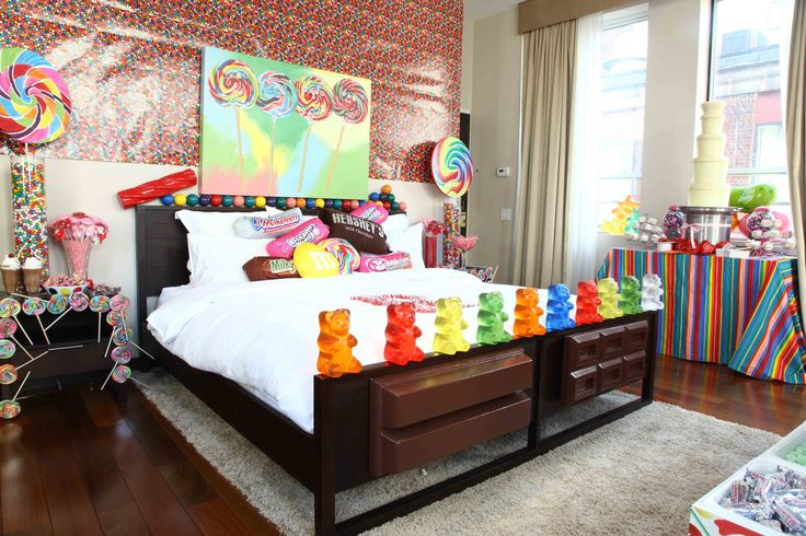 candy bedroom - pretty sure this is how my fiance would prefer our room