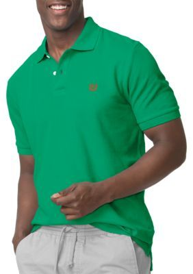 Chaps Chroma Green Big  Tall Pique Polo Shirt
