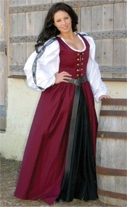 Irish Dress: Renaissance Costumes, Medieval Clothing, Madrigal Costume: The Tudor Shoppe