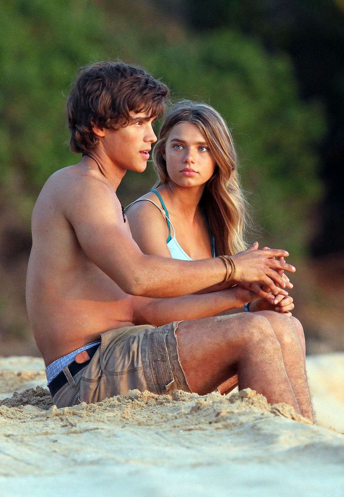 Indiana Evans Photos Photos: Indiana Evans and Brenton Thwaites Film 'Blue…