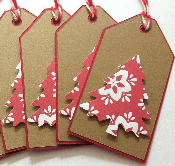 Christmas Gift Tags Christmas Tree Gift Tags Kraft by TerrysCards, $4.00