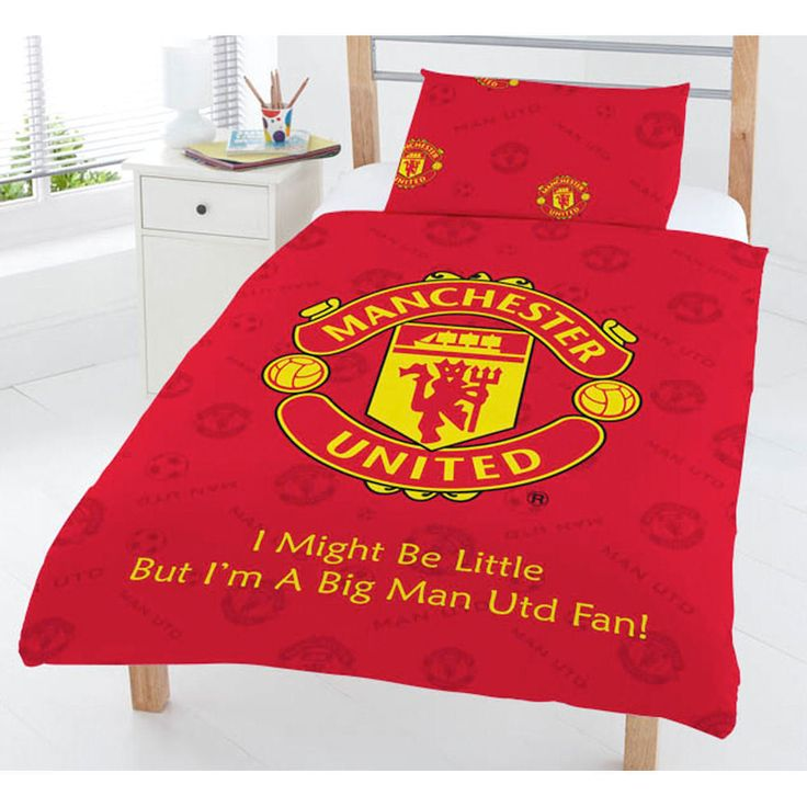Manchester United Football Club MUFC Red Junior Toddler Bed Duvet Quilt Cover