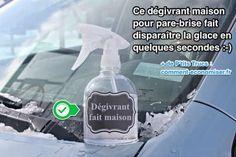 Ce dégivrant fait maison ne contient que 2 ingrédients... Et il fait disparaître la glace en quelques secondes ! Tout ce dont vous avez besoin, c'est de l'eau et de l'alcool à 90°.  Découvrez l'astuce ici : http://www.comment-economiser.fr/degivrant-maison-pour-pare-brise-fait-disparaitre-glace-vite.html?utm_content=bufferdfb61&utm_medium=social&utm_source=pinterest.com&utm_campaign=buffer