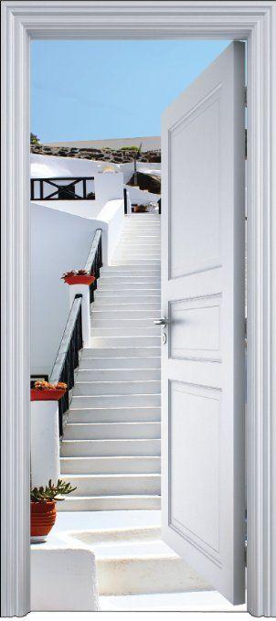 Les 25 meilleures id es de la cat gorie trompe l oeil for Sticker decoration de porte trompe l oeil escalier