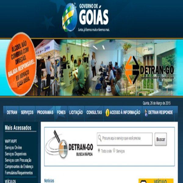DETRAN Goiás: Consulta IPVA, Multas, Renavam