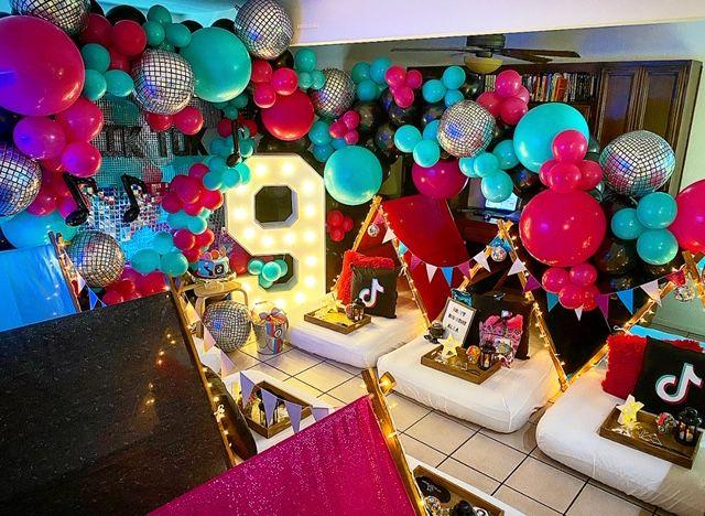 Tiktok Sleepover Az Sleepy Teepee Glow Birthday Party 12th Birthday Party Ideas Girls Birthday Party Ideas Sleepover