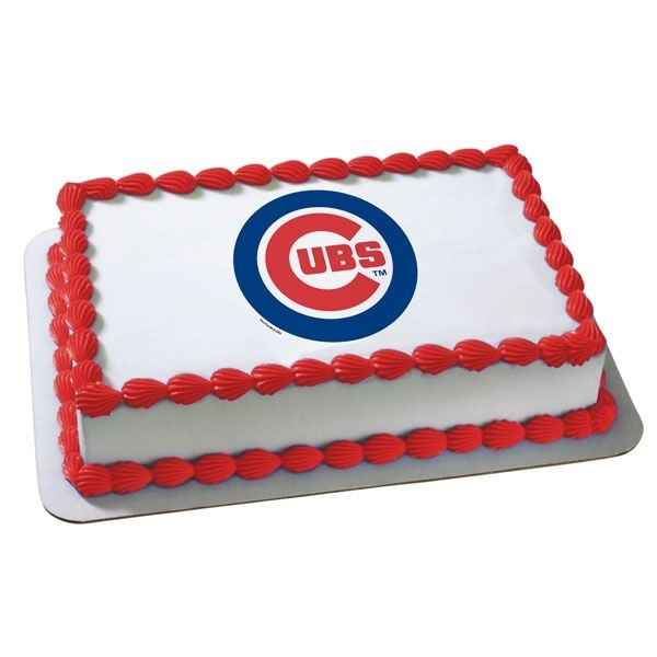 MLB Chicago Cubs Edible Cake Decoration