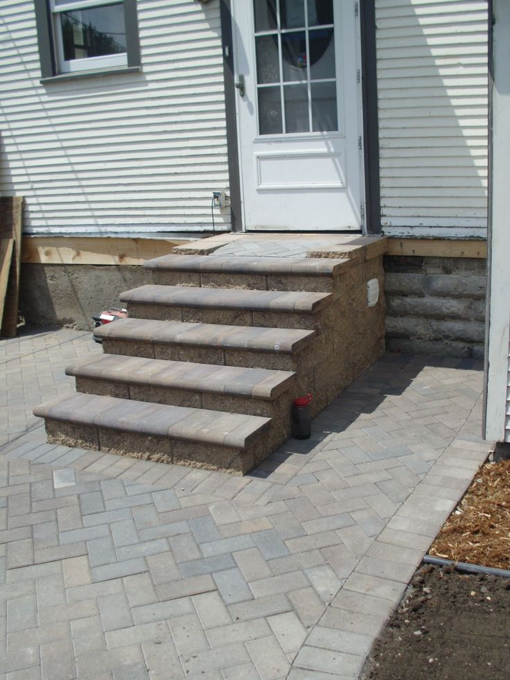 A #paver Step And Sidewalk Installation In Minneapolis Completed By Barrett  Lawn Care In May