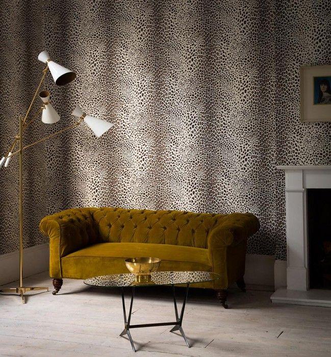 Die besten 25+ Leopard tapete Ideen auf Pinterest Leopardwand - wohnzimmer tapeten ideen braun