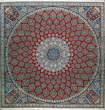 "Handmade Nain Persian Rug 10' 0"" x 10' 0"", Authentic Persian Rug $9,180.00"
