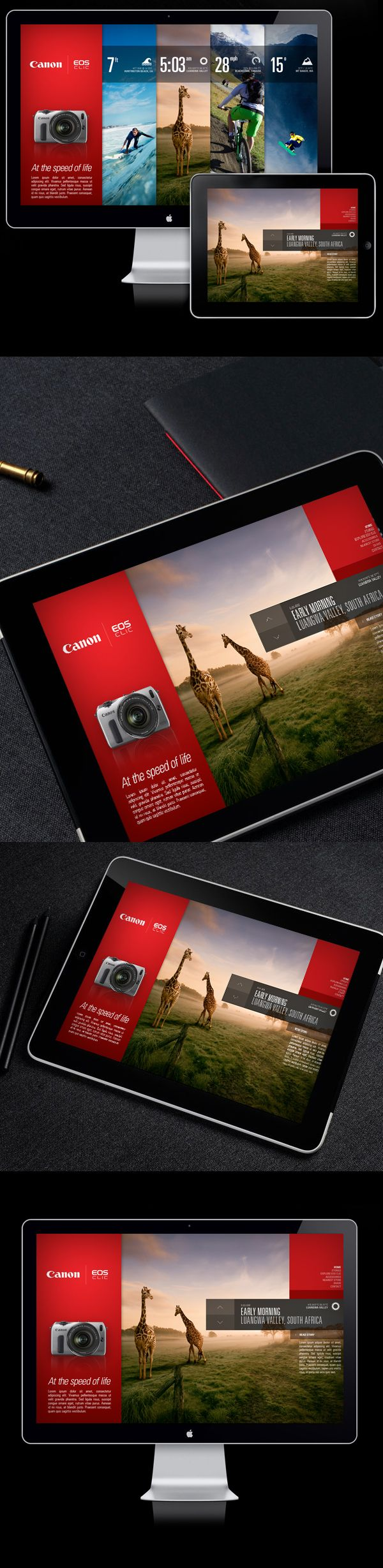 Canon EOS-M / Campaign Microsite on Behance