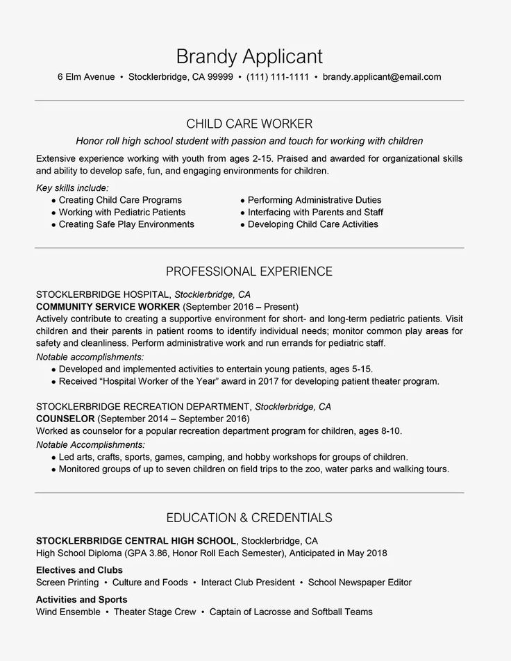 High School Resume Example with Summary Resume examples
